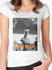Andrew Wiggins dunk Women's Fitted Scoop T-Shirt