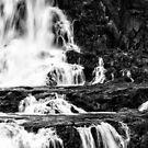 Iguaza Falls - in close - monochrome by photograham