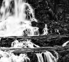 Iguaza Falls - in close - monochrome by photograham