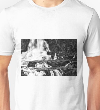 Iguaza Falls - in close - monochrome Unisex T-Shirt
