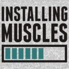 Loading Muscles - Nerd, Gamer, Geek Workout Shirt by printproxy