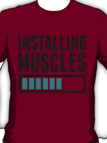 Loading Muscles - Nerd, Gamer, Geek Workout Shirt T-Shirt