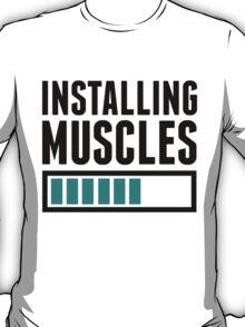 Loading Muscles - Nerd, Gamer, Geek Workout Shirt T-Shirt