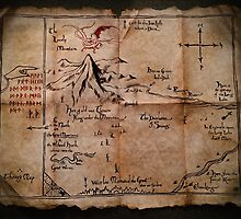Thror's Map | Thorin Oakenshield's Map - Digital Artwork  by Daniel Watts