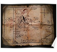 Thror's Map | Thorin Oakenshield's Map - Digital Artwork  Poster
