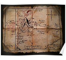 Thror's Map | Thorin Oakenshield's Map - Digital Artwork  Poster