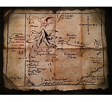 Thror's Map | Thorin Oakenshield's Map - Digital Artwork  Photographic Print