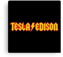 Tesla/Edison vs. AC/DC (Monsters of Grok) Canvas Print