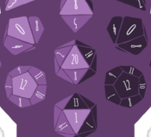 Dice Dragon - Purple Sticker