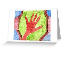 Creature's Hand Greeting Card