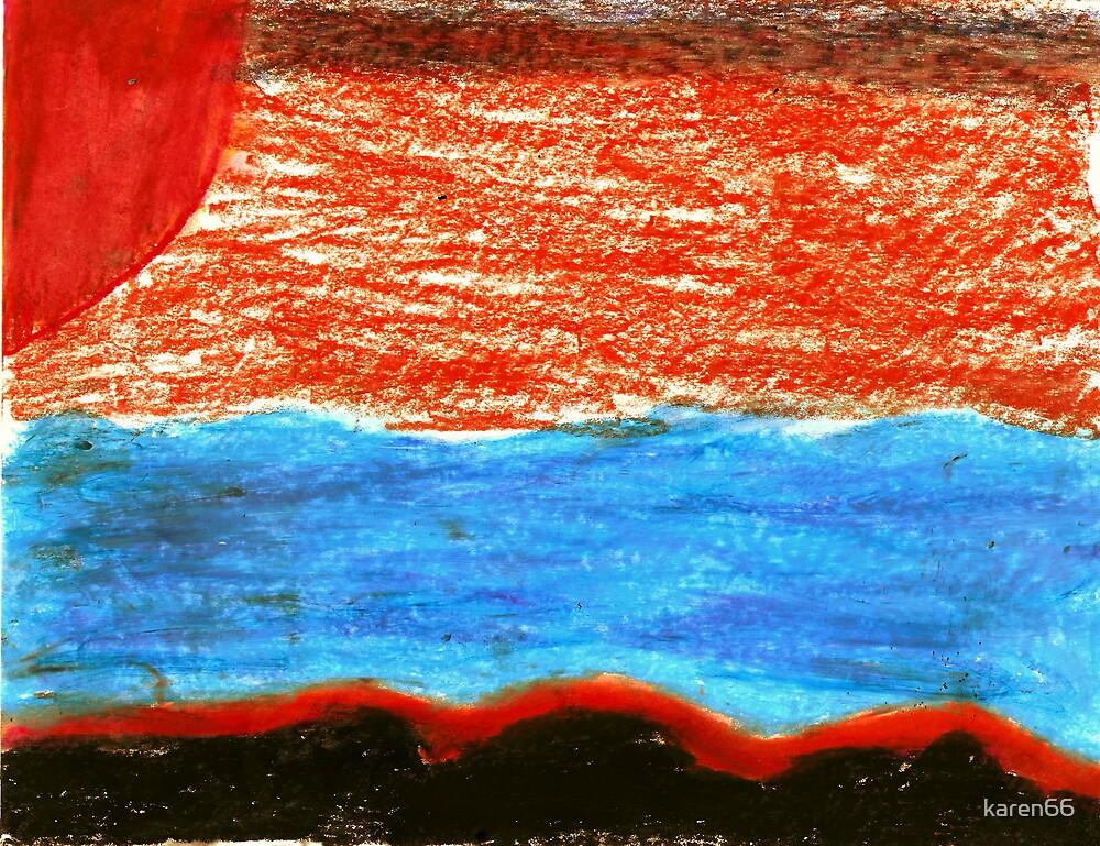 Sunrise Over The Ocean by karen66