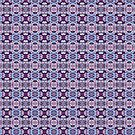 Blue and Violet Pattern by Kathy Weaver