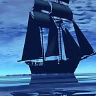 Blue Ship by crystalwizard