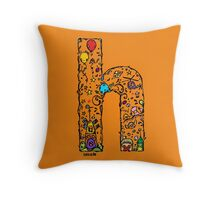 IMOK Letter H Throw Pillow