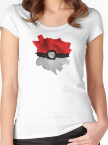 Painting Pokeballs Women's Fitted Scoop T-Shirt