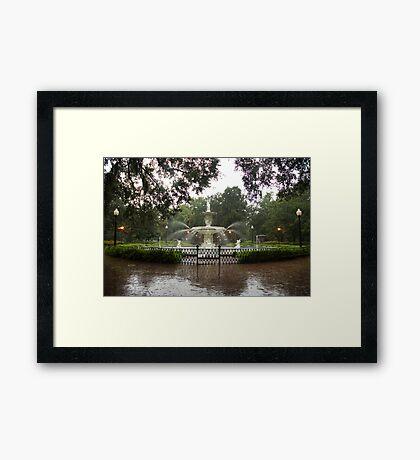 The Fountain In Forsyth Park Framed Print