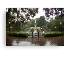 The Fountain In Forsyth Park Canvas Print