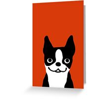 Boston Terrier Smiling Face Greeting Card