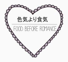 Food Before Romance black by kryana