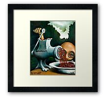 The organ grinder and his monkey Framed Print
