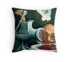 The organ grinder and his monkey Throw Pillow