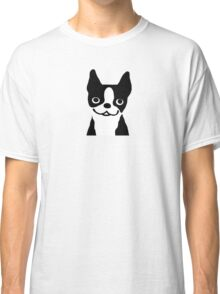 Boston Terrier Smiling Face Classic T-Shirt