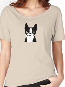 Boston Terrier Smiling Face Women's Relaxed Fit T-Shirt