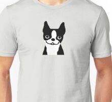 Boston Terrier Smiling Face Unisex T-Shirt