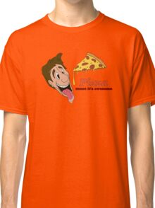 Pizza - cause it's awesome Classic T-Shirt