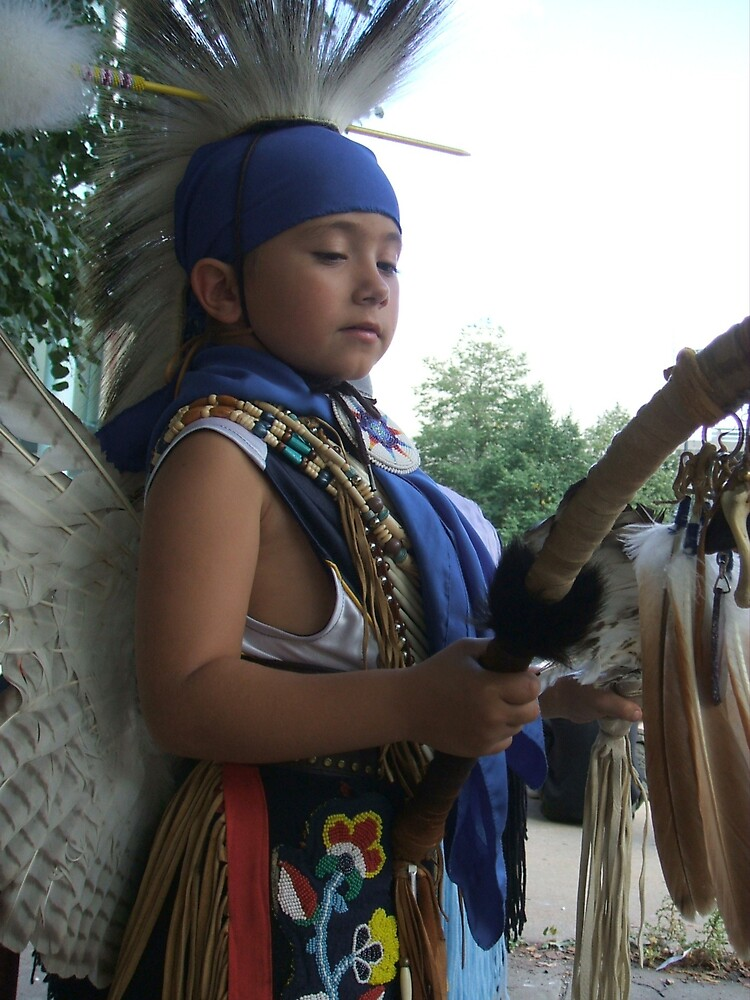 Young Native Traditional Dancer by Jamie Winter-Schira