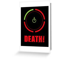 Ring of Death Greeting Card