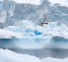 """Dwarfed by Ice ~ Neko Harbour Antarctica"" by Robert Elliott"