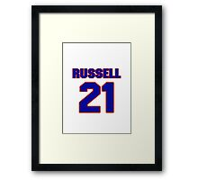 Basketball player Campy Russell jersey 21 Framed Print