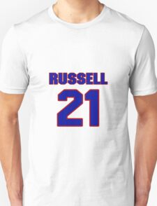 Basketball player Campy Russell jersey 21 T-Shirt