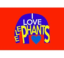I love elephants Photographic Print