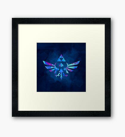 Skyward Sword Paint Blue Framed Print
