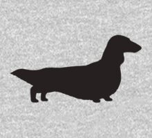 Long Haired Dachshund Silhouette Kids Clothes