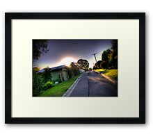 Sunset in Suburbia Framed Print