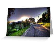 Sunset in Suburbia Greeting Card