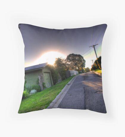 Sunset in Suburbia Throw Pillow