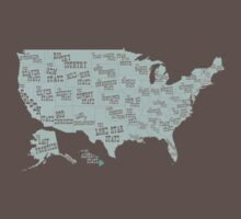 USA state slogans Kids Clothes