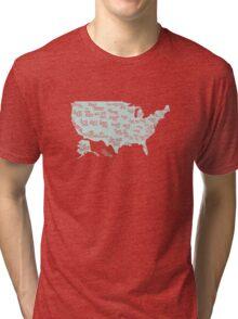 USA state slogans Tri-blend T-Shirt