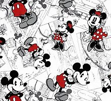 Vintage Minnie & Mickey by iheartcory