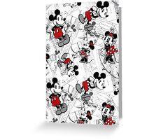 Vintage Minnie & Mickey Greeting Card
