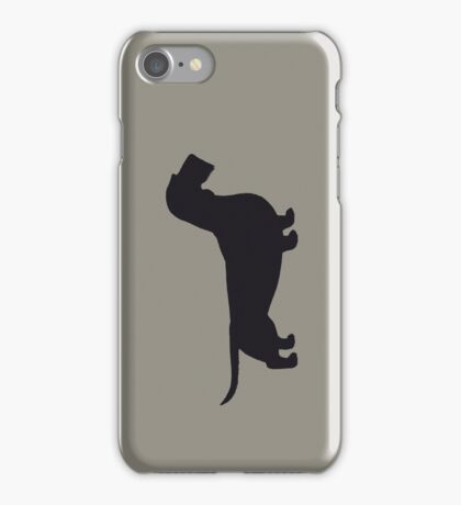 Wire Haired Dachshund Silhouette(s) iPhone Case/Skin