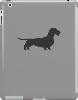 Wire Haired Dachshund Silhouette(s) by Jenn Inashvili
