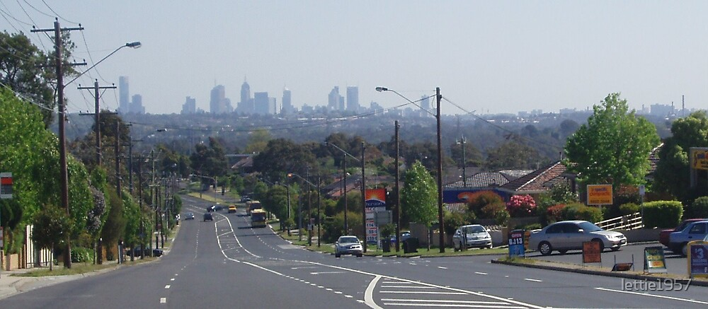 Melbourne in Distance by lettie1957