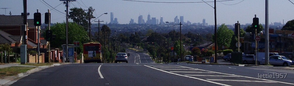 melbourne in the distance by lettie1957