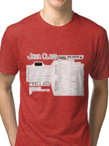 a mini Java Class Tri-blend T-Shirt