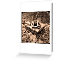 Toy Tank in Forest Greeting Card